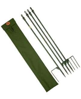 Jack Pyke Super Hide Poles (x4) And Hunters Green Or English Oak Carry Bag