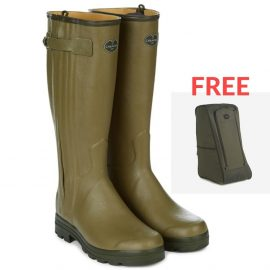 Le Chameau wellies - chasseur leather lined