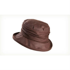 Olney Annabel Wax & Rouched Crown Hat Brown