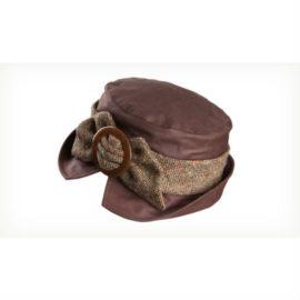 Olney Helen Wax and Tweed Hat Brown