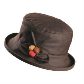 Olney Berry Wax Hat Brown