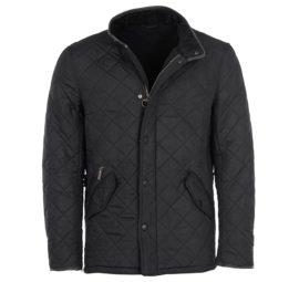 mqu0281bk11 Barbour Powell Quilt Jacket Black