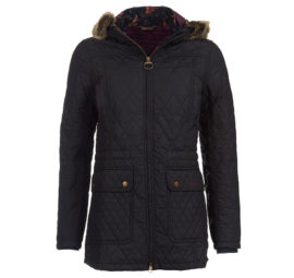 lqu0641ny71 Barbour Tors Hooded Quilt Navy