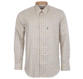 MSH0002NY51 Barbour Sporting Tattersall Shirt Navy (1)