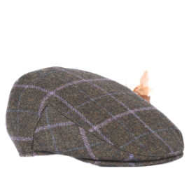 LHA0220OL92 Barbour Tweed Flat Olive Cap