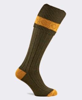 Pennine Byron Greenacre Premium Wool Shooting Socks