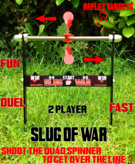 Reflex Targets Slug Of War Air Rifle Target